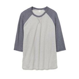 (オルタナティブ・アパレル) Alternative Apparel メンズ Dugout ビンテージ 50/50 Tシャツ 七分袖 トップス カットソー 【楽天海外直送】