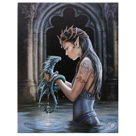 (アン・ストークス) Anne Stokes キャンバス Water Dragon ウォールアート 看板 デコレーション 飾り 【楽天海外直送】