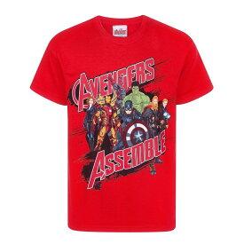 (マーベル) Marvel アベンジャーズ オフィシャル商品 子供用 半袖 キャラクター Tシャツ 男の子 【海外通販】