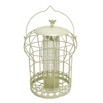 (蜂蜜菲尔兹)把供Honeyfields野鸟使用的Cottage花生馈线饲料放进去观察野鸟