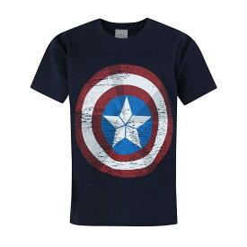 (マーベル) Marvel アベンジャーズ オフィシャル商品 子供用 半袖 キャプテン・アメリカ シールド Tシャツ 男の子 【海外通販】