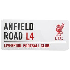 リバプール フットボールクラブ Liverpool FC オフィシャル クレストデザイン Anfield Road ストリートサイン メタルプレートサイン サッカーノベルティー看板 【楽天海外直送】