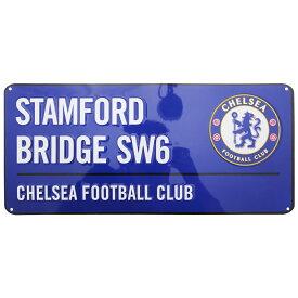 チェルシー フットボールクラブ Chelsea FC オフィシャル Stamford Bridge ストリートサイン サッカーノベルティー看板 【楽天海外直送】