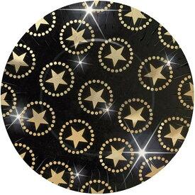 (アムスキャン) Amscan スター パーティー ペーパープレート 紙皿 (8枚組) 【楽天海外直送】