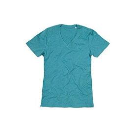 (ステッドマン) Stedman メンズ Luke メランジェ Vネック 半袖 Tシャツ 無地 【楽天海外直送】