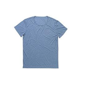 (ステッドマン) Stedman メンズ David メランジェ オーバーサイズ クルーネック 半袖 Tシャツ 無地 【楽天海外直送】