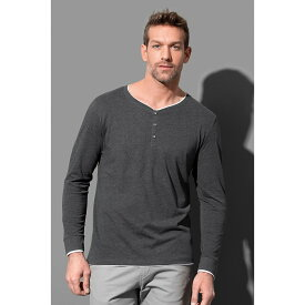 (ステッドマン) Stedman メンズ Luke ヘンリーネック 長袖 Tシャツ カットソー 【楽天海外直送】