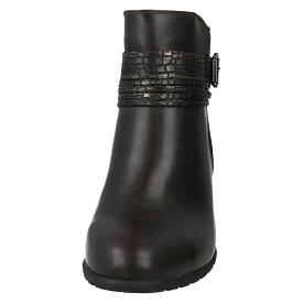 (スポットオン) Spot On レディース スネーク柄 バックルストラップ アンクルブーツ 婦人靴 カジュアル ブーツ 女性用 【楽天海外直送】