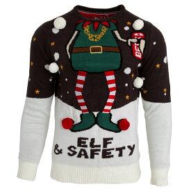 (ブレーブ・ソウル) Brave Soul メンズ Elf & Safety ポンポンつき クリスマス セーター ニット 【楽天海外直送】