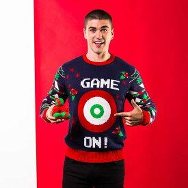 (クリスマスショップ) Christmas Shop メンズ Game On ボールダーツで遊べる クリスマスセーター ニット 【楽天海外直送】
