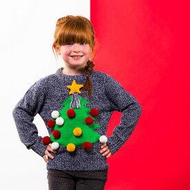 (クリスマスショップ) Christmas Shop キッズ・子供用 3D 立体的 クリスマスセーター ニット 【楽天海外直送】