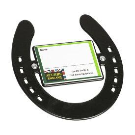 (スタッブス) Stubbs ホースシュー 蹄鉄型 ネームプレート 名札 厩舎 乗馬 ホースライディング 【楽天海外直送】