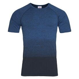 (ステッドマン) Stedman メンズ Active Seamless Raglan Flow シームレス スポーツ 半袖 Tシャツ トレーニングトップ 【楽天海外直送】