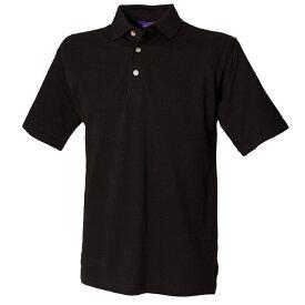 (ヘンブリー) Henbury メンズ クラシック 無地 スタンドアップカラー 半袖ポロシャツ トップス 定番 男性用 【楽天海外直送】
