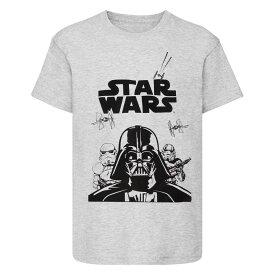 (スター・ウォーズ) Star Wars オフィシャル商品 子供用 ダース・ベイダー プリント 半袖 Tシャツ 男の子 【楽天海外直送】