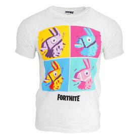 (フォートナイト) Fortnite オフィシャル商品 ユニセックス ラマ ゲーム キャラクター プリント 半袖 Tシャツ 【楽天海外直送】