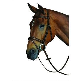 (カレッジエイト) Collegiate 馬用 快適 クラウン パッド入り ライズドレザー フラッシュブライドル 頭絡 馬具 乗馬 ホースライディング 【楽天海外直送】