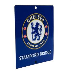 チェルシー フットボールクラブ Chelsea FC オフィシャル商品 角型 ウインドーサイン 飾り サッカー 【楽天海外直送】