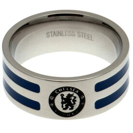 チェルシー フットボールクラブ Chelsea FC オフィシャル商品 カラーストライプ リング サッカー 指輪 【楽天海外直送】