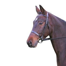 (ハイ) Hy 馬用 Hunter レザー ブライドル ラバーグリップ手綱付き 馬具 乗馬 ホースライディング 【楽天海外直送】