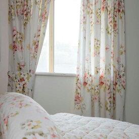 (ベルドーム) Belledorm Cherry Blossom 裏地付き ペンシルプリーツカーテン 【楽天海外直送】