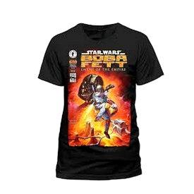 (スター・ウォーズ) Star Wars オフィシャル商品 ユニセックス ボバ・フェット プリント 半袖 Tシャツ 【楽天海外直送】