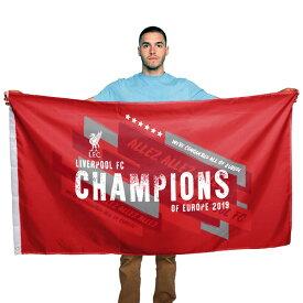 リバプール フットボールクラブ Liverpool FC オフィシャル商品 Champions Of Europe フラッグ 応援旗 【楽天海外直送】