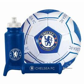 チェルシー フットボールクラブ Chelsea FC オフィシャル商品 ギフトセット (サッカーボール・空気入れ・ドリンクボトル) 【海外通販】
