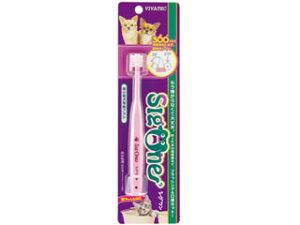 【あす楽】【犬 歯ブラシ 歯磨き 犬用】ビバテック シグワン超小型犬用歯ブラシ ピンク【楽天BOX受取対象商品】