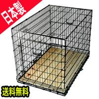 【★送料無料】シゲミツ スチールペットケージ 中 フロントドア木製スノコ付き