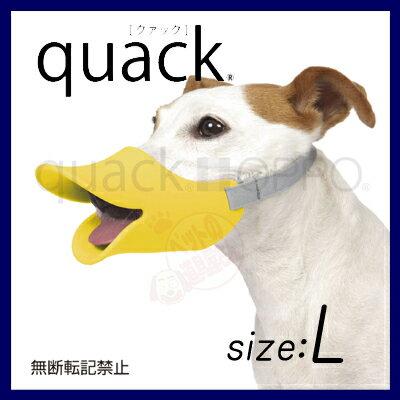 【正規品】 quack Lサイズ シリコン製ユニークな口輪