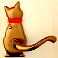 【ペット型ドアノブ】わんにゃんレバーハンドル cat2 51 猫