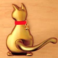 【ペット型ドアノブ】わんにゃんレバーハンドル cat1 60 猫