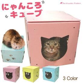 猫のダンボールハウス にゃんころキューブ猫 ハウス ダンボール 爪とぎ インスタ SNS映え しますよ!