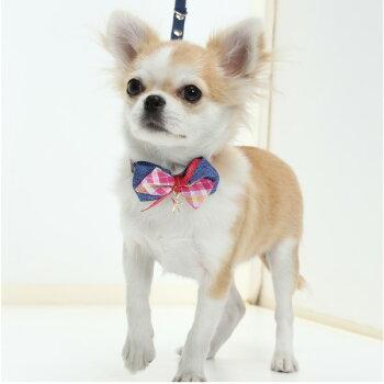 犬用首輪スターリボン<単品><Mサイズ>