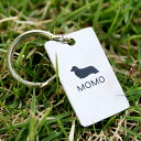 犬 猫の迷子札 (いぬ ねこ) No.103W 送料無料 スクエア型 <両面彫刻> チタン製 まいごふだ ドッグタグ Dog tag ネームタグ