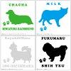 Cute personalized pet sticker No.35 L size (18 x 18 cm) dog / sticker-/sticer 10P03Sep16