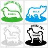 Cute personalized pet sticker No.31 M size (14 x 14 cm) 10P13Nov14