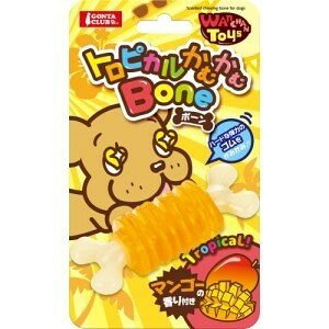 ★訳あり在庫処分! マルカン Wanchan Toys トロピカルかむかむボーン マンゴー風味 DP-309