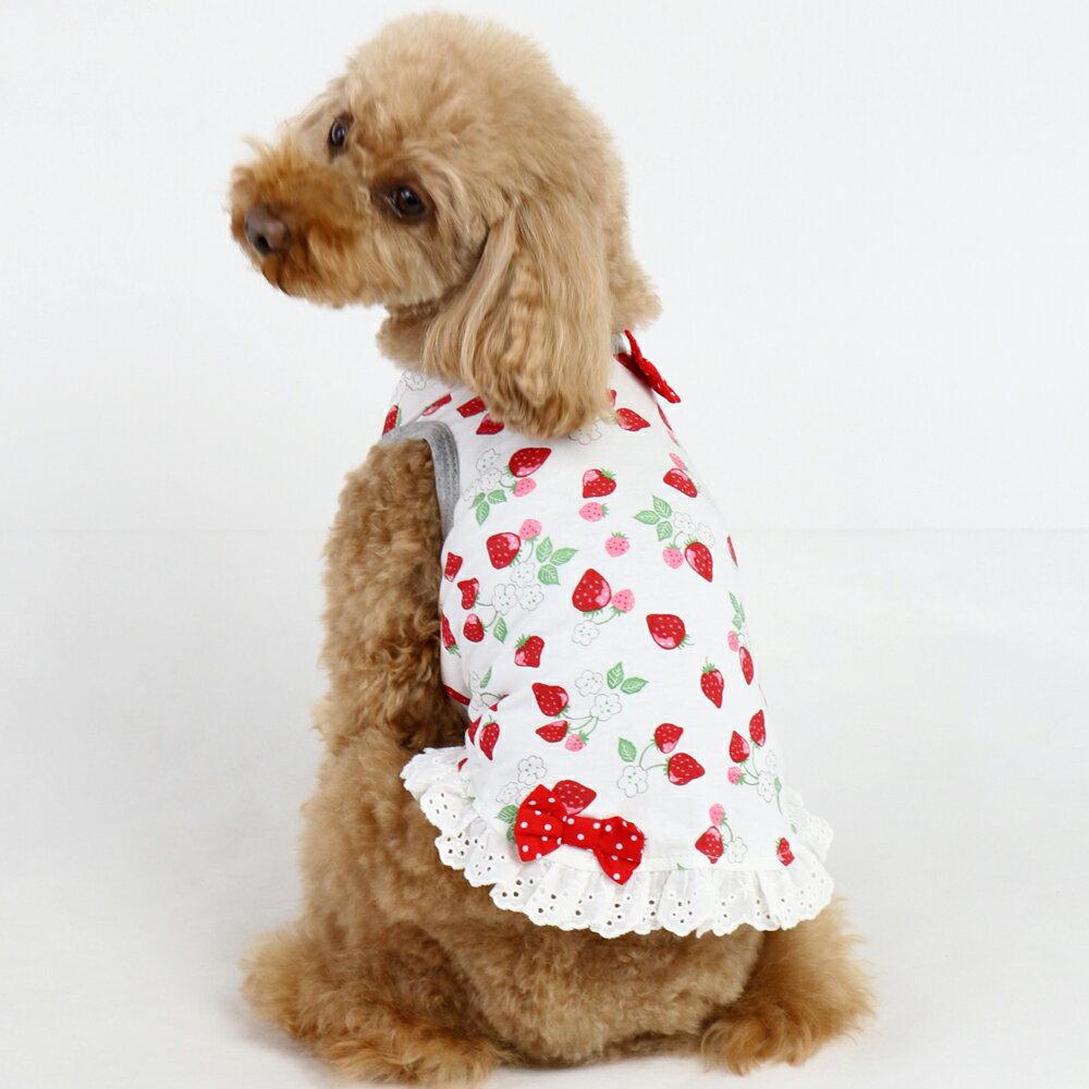 【送料無料】ペットパラダイス Pretty Bouquet 《ウルトラストレッチ》野いちご柄タンクトップ【SS】 [犬 服][犬服][トイプードル]