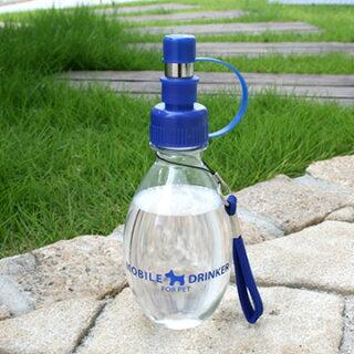 ペットパラダイスPet'ySoinお散歩中の水分補給に!水漏れ防止ロック付き!ワンちゃんお水携帯ボトル(青)220ml|