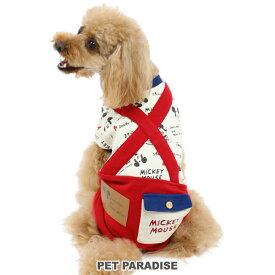 SALE ペットパラダイス ディズニー ミッキーマウス ゆるフェイス パンツつなぎ 【小型犬】 | 犬の服 ドッグ いぬ イヌ ドック 犬服 超小型犬 小型犬 セール 【返品交換不可】