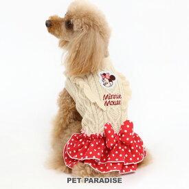 ディズニー ミニーマウス ドット スカート付きニット 【小型犬】   ドッグウエア ドッグウエア いぬ イヌ おしゃれ かわいい