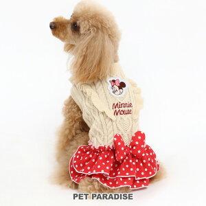ディズニー ミニーマウス ドット スカート付きニット 【小型犬】 | ドッグウエア ドッグウエア いぬ イヌ おしゃれ かわいい