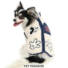 ディズニー ミッキーマウス ボタン目 背開き ジップベスト 白 【小型犬】 | ドッグウエア ドッグウエア いぬ イヌ おしゃれ かわいい