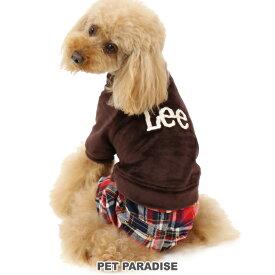 SALE ペットパラダイス Lee ベロア 格子 パンツつなぎ【小型犬】 | リー 犬の服 ドッグ いぬ イヌ ドック 犬服 犬用品 ペット用品 超小型犬 小型犬 セール 【返品交換不可】