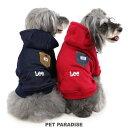 【ポイント10倍】犬 服 秋冬 Lee ポケット ロゴ パーカー 【小型犬】 | ドッグウエア ドッグウェア いぬ イヌ おしゃ…
