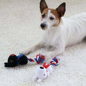 犬 おもちゃ ロープ リサとガスパール 白 黒 | 音が鳴る ぬいぐるみ ボール ロープ オモチャ 玩具 小型犬 おもちゃ 猫 かわいい おもしろ インスタ映え キャラクター