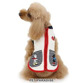 リサとガスパール ニット柄 背開き ベスト 白 【小型犬】 | ドッグウエア ドッグウェア いぬ イヌ おしゃれ かわいい キャラクター