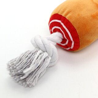 ペットパラダイス骨付き肉ロープおもちゃ【大】おもちゃロープ